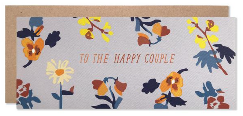 Hartland Brooklyn To the Happy Couple Laura Print with Copper Foil