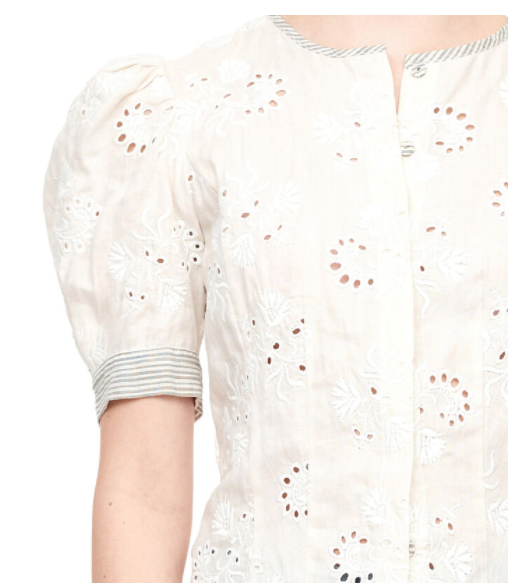 Rebecca Taylor Magic Garden Eyelet Top