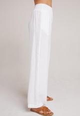 Bella Dahl Smocked Wide Leg White