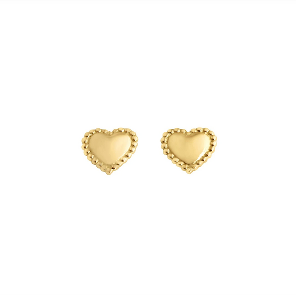 Gigi Clozeau Lucky Heart Earrings
