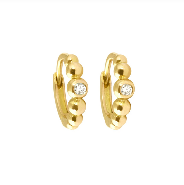 Gigi Clozeau Lucky Diamond Hoops