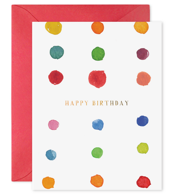E Frances Paper Birthday Dots