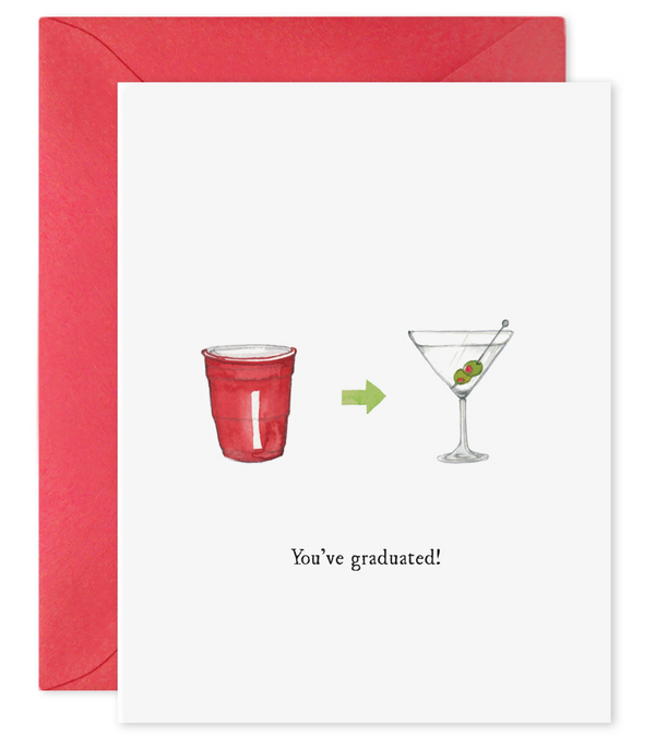 E Frances Paper You've Graduated Martini