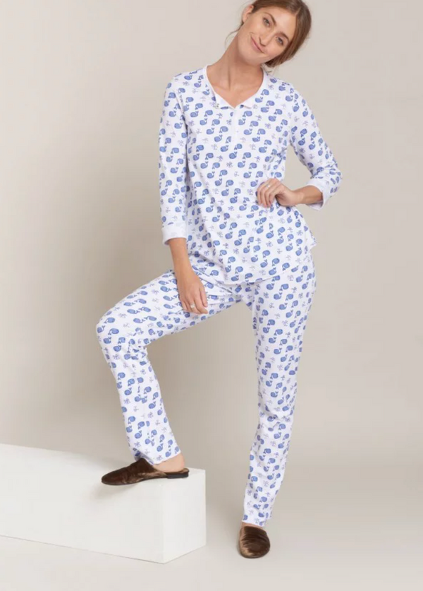 Roller Rabbit Moby Pajamas Blue