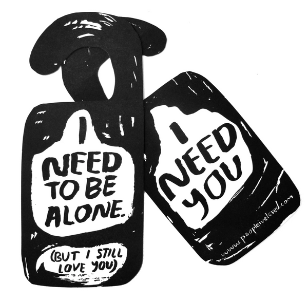People I've Loved Alone Time Door Hanger