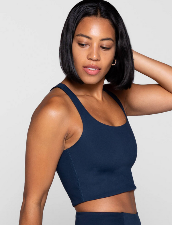 Girlfriend Collective Paloma Bra Midnight