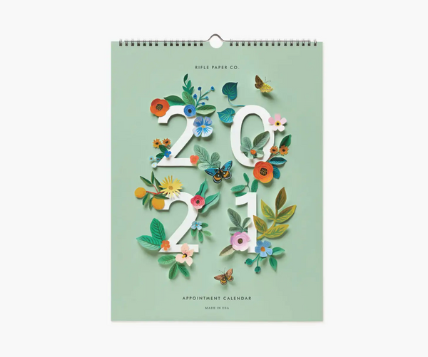 Rifle Paper Co. 2021 Cut Paper Appointment Calendar