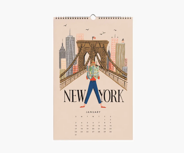 Rifle Paper Co. 2021 Explore the World Wall Calendar