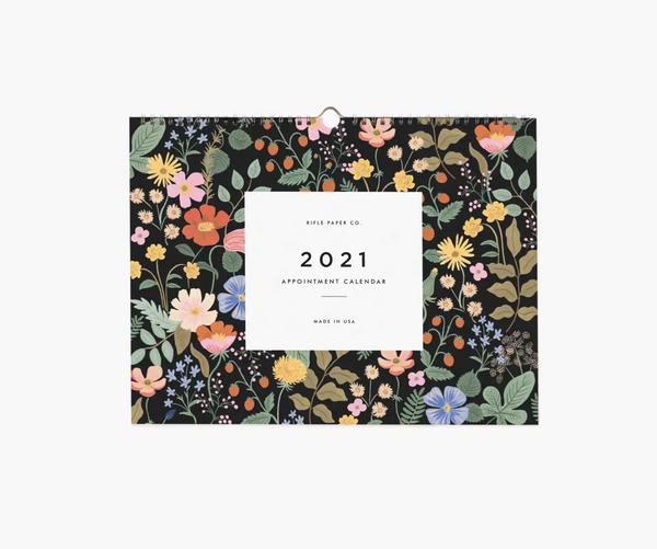 Rifle Paper Co. 2021 Wild Garden Appointment Calendar