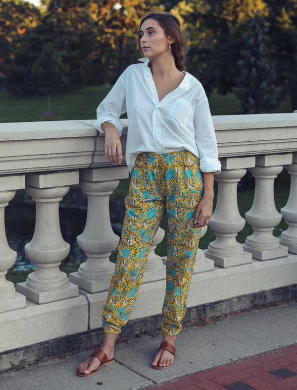 Mille Isla Pants Yellow Floral
