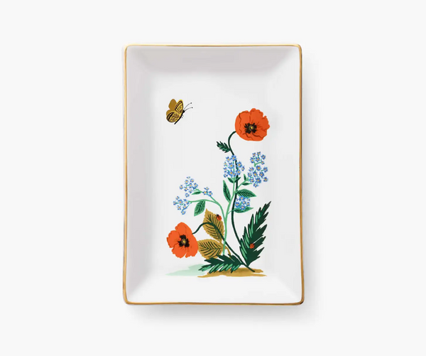 Rifle Paper Co. Poppy Botanical Catchall Tray