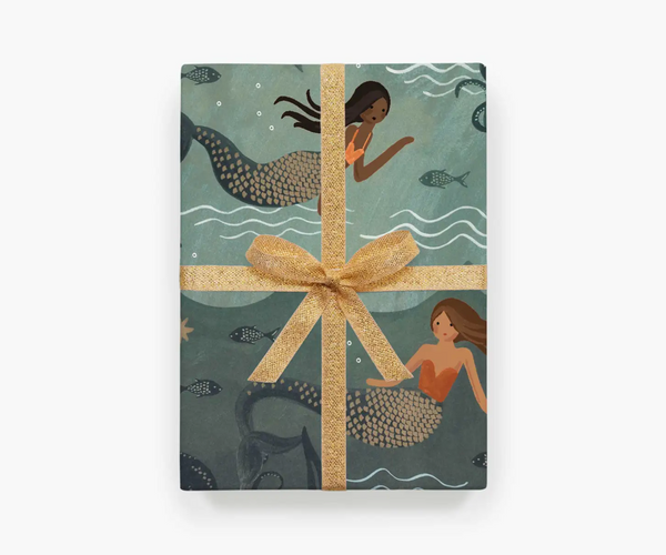 Rifle Paper Co. Roll of 3 Mermaid Wrapping Sheets