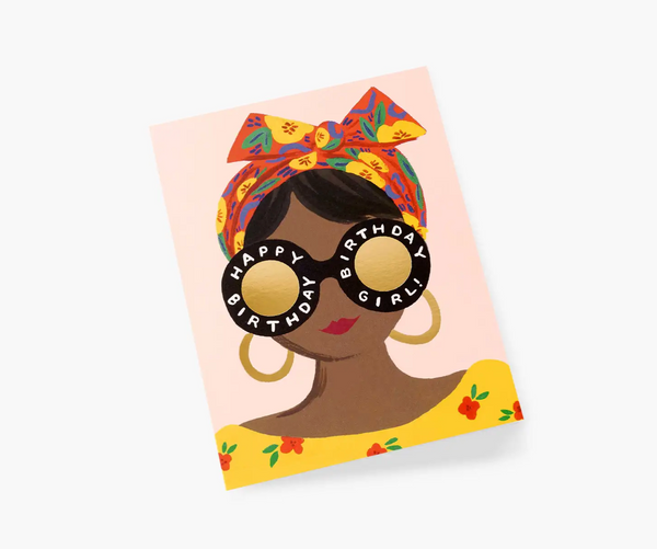 Rifle Paper Co. Scarf Birthday Girl Card