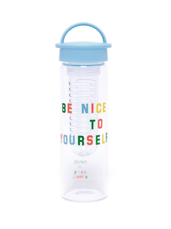 Ban.do Infuser Water Bottle, Be Nice To Yourself