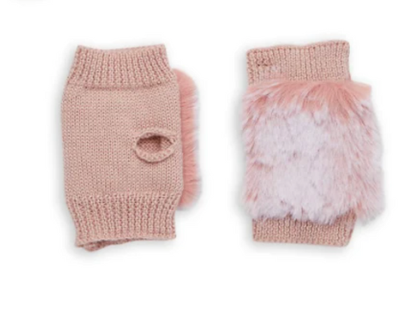 Jocelyn Kids Snowtop Faux Fur Texty Time Mitten