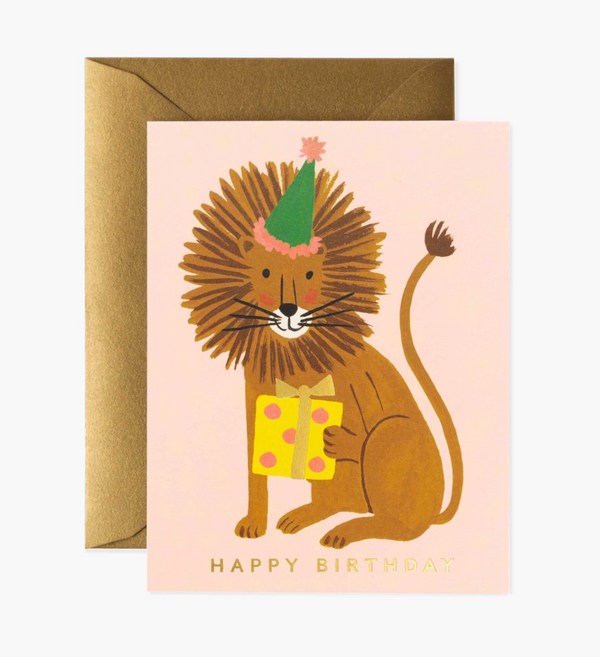 Rifle Paper Co. Lion Birthday Card