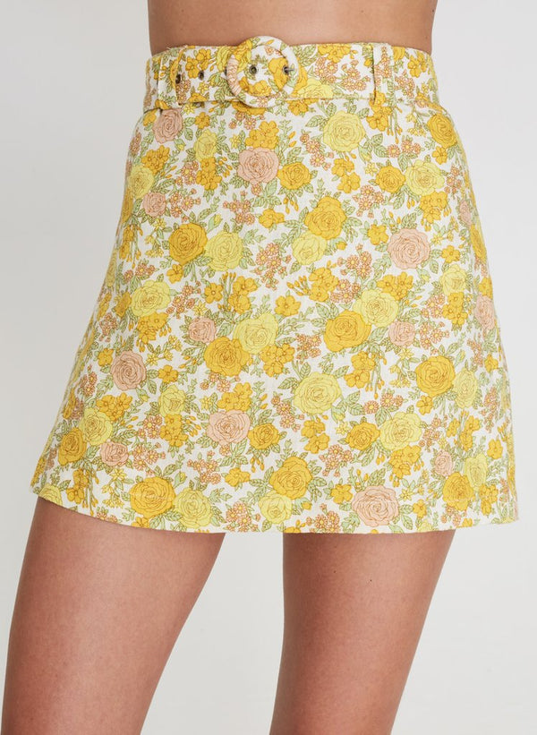 Faithfull the Brand Celia Skort - Grey Garden Floral