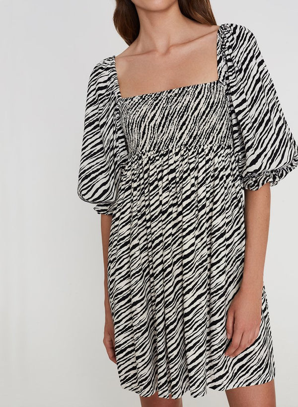 Faithfull the Brand Alina Dress - Blance Animal Print