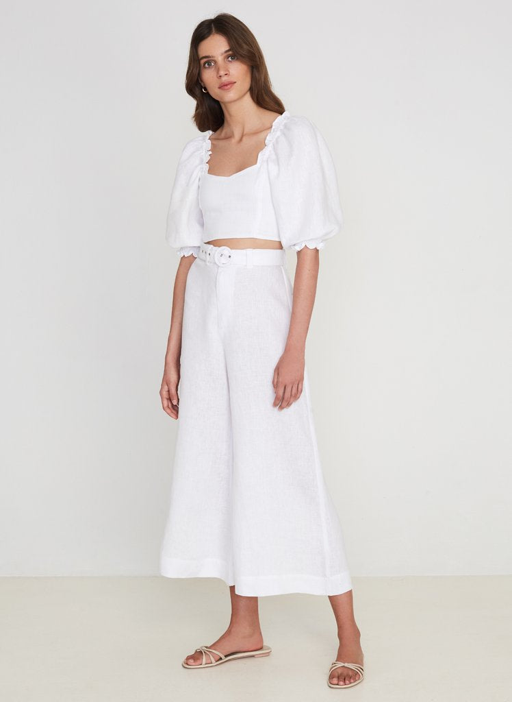 Faithfull the Brand Pietra Top - Plain White
