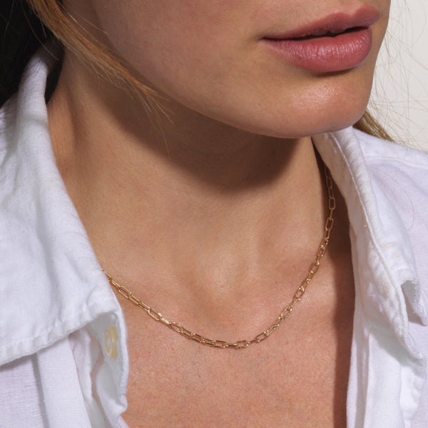 Sophie Ratner Oval Chain Necklace 18""