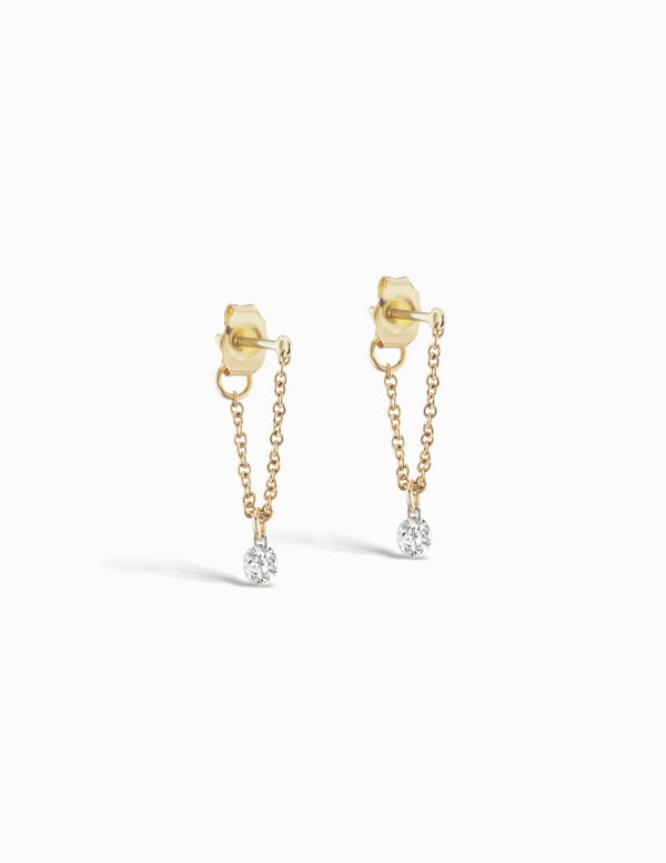 Sophie Ratner Pierced Diamond Classic Chain Studs