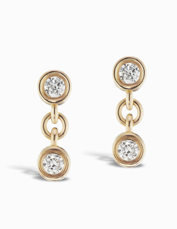 Sophie Ratner Two Diamond Twin Studs