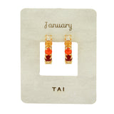 Tai Ombre birthstone huggie earrings Post back