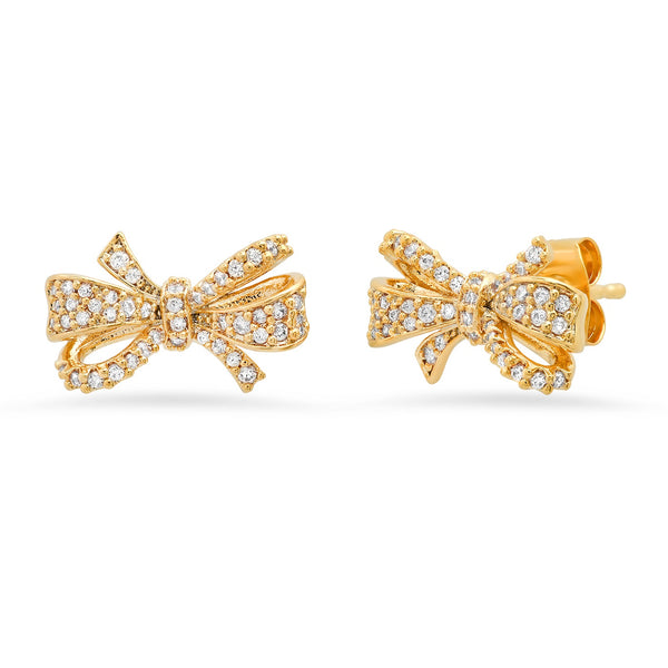 Tai CZ Bow post earrings