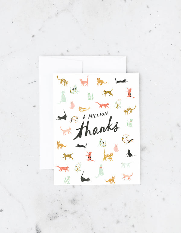 Idlewild Million Thanks Cats Card