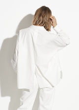 Vince Boxy Long Sleeve Optic White