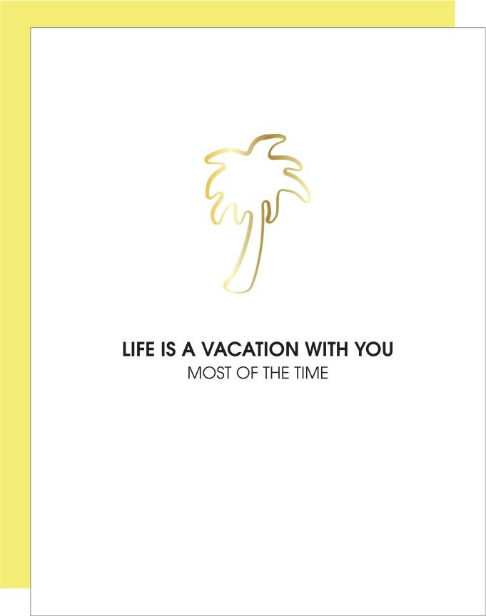 Chez Gagne Vacation With You - Palm Tree Paperclip Card