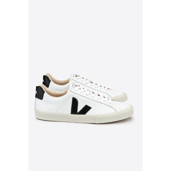 Veja Fair Trade Esplar Logo Leather Extra White Black