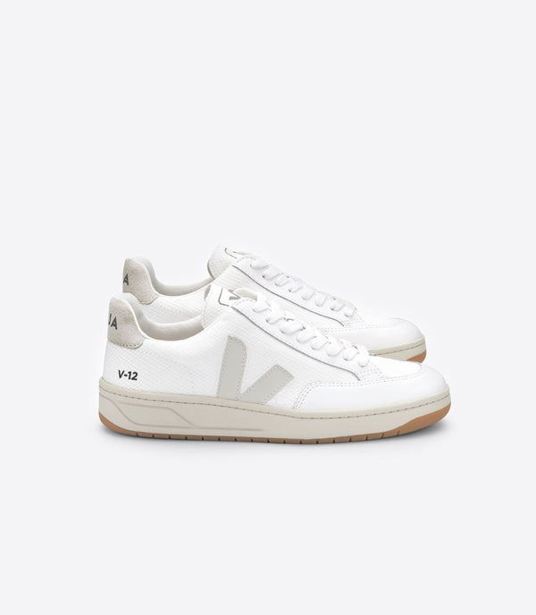 Veja Fair Trade V-12 B-Mesh White Natural