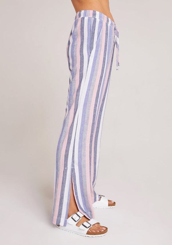 Bella Dahl Side Slit Wide Leg Pant Spring Rose