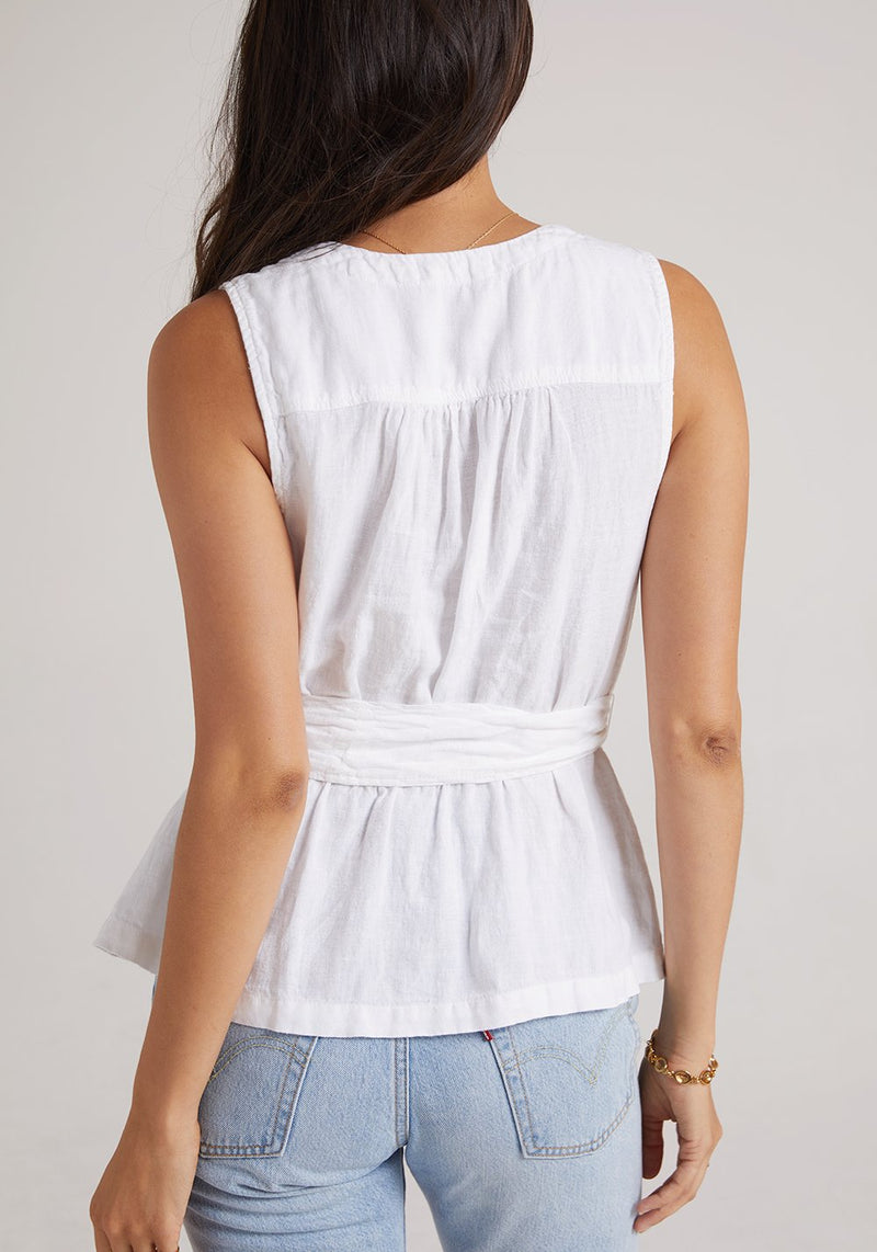 Bella Dahl Belted Wrap Top White