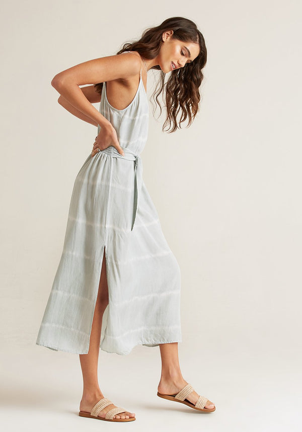 Bella Dahl Smocked Waist Maxi Dress Desert Olive