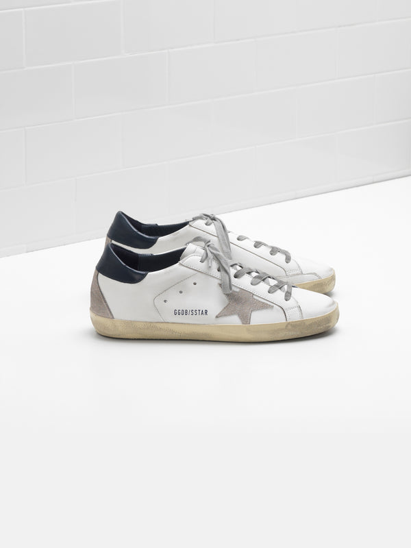 Golden Goose Superstar Col A7 White Blue Cream