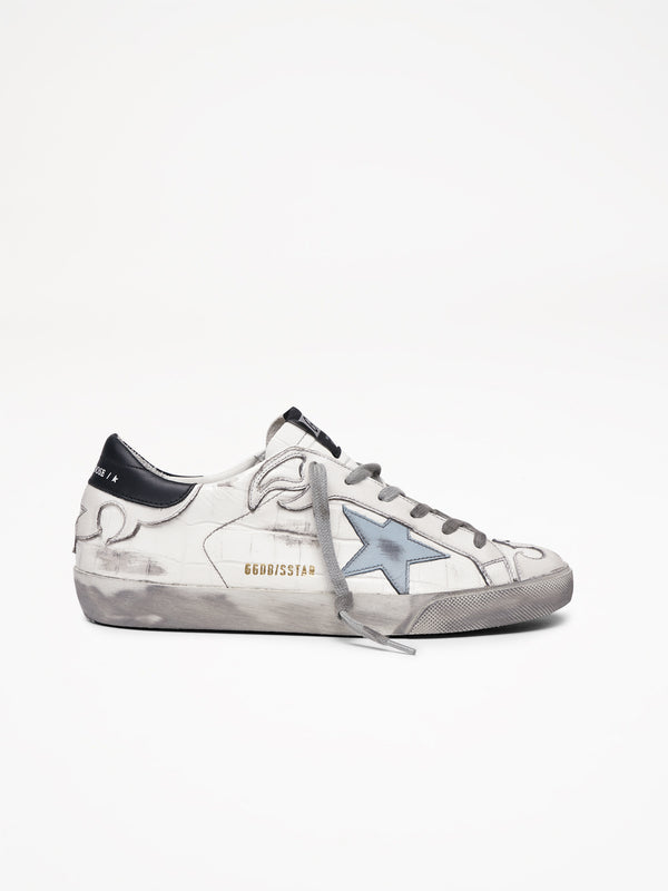 Golden Goose Superstar Col V52 White Cocco Clouds Star