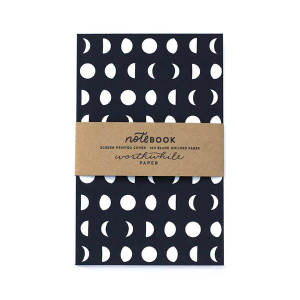 Worth While Paper Moon Pattern - Notebook