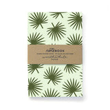 Worth While Paper Palm Leaf Pattern Notebook