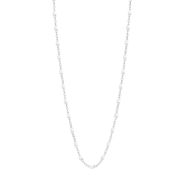 "Gigi Clozeau 18K Classic Necklace 17.7"" White Gold"