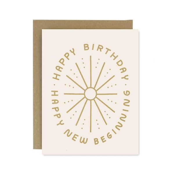 Worth While Paper Birthday New Beginning Card