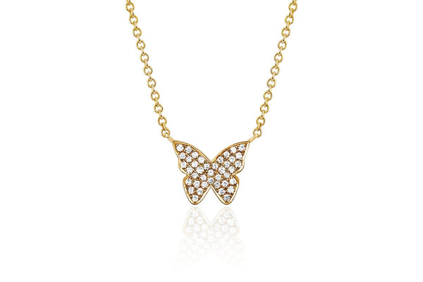 EF Collection Diamond Butterfly Necklace