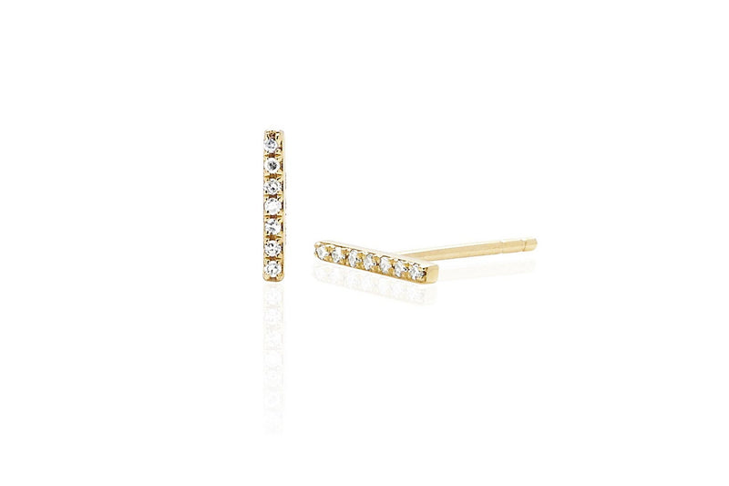EF Collection Diamond Mini Bar Stud Earring (SINGLE)