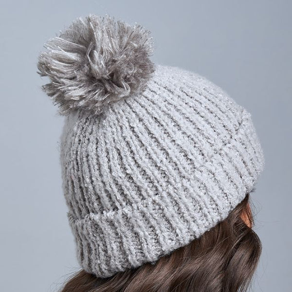 Lemon Snow Storm Hat w/ Pom Flannel
