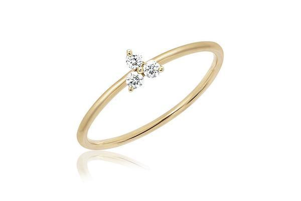 EF Collection Diamond Trio Stack Ring