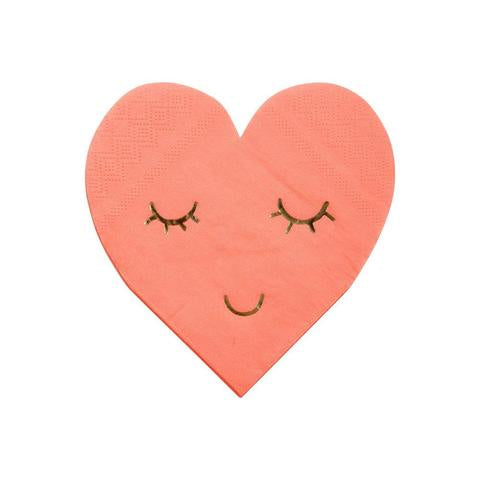 Meri Meri Smiley Heart Napkin Sm S/16