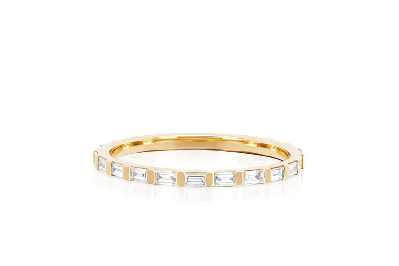 EF Collection Diamond Baguette Eternity Stack Ring