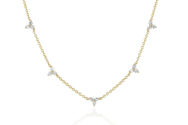 EF Collection Diamond 5 Trio Necklace