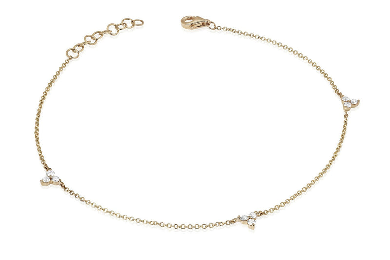 EF Collection Triple Trio Anklet